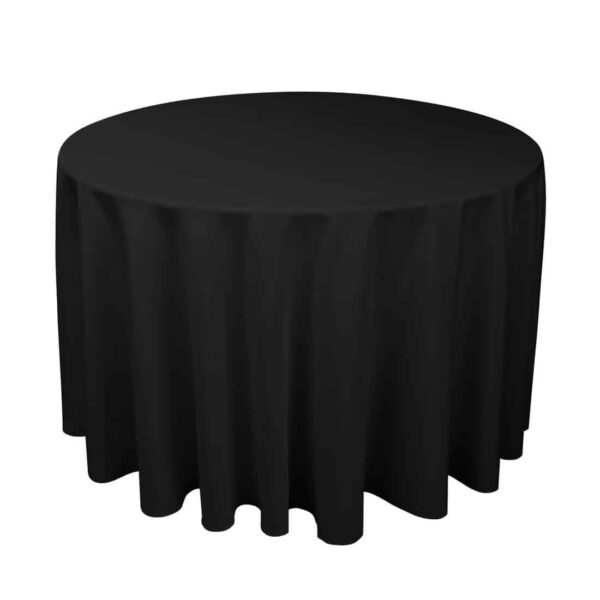 Black Circular Table Cloth