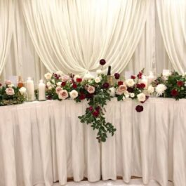 Candles Head Table