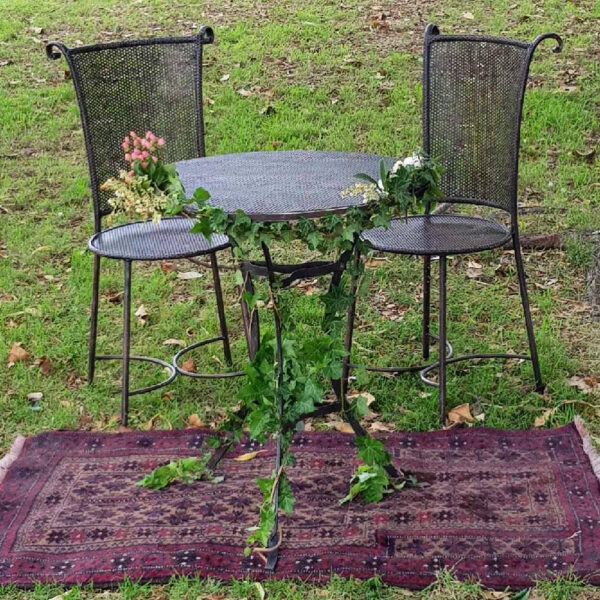 Table Chairs Rustic Ceremony