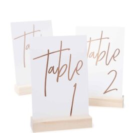 Rose Gold Table Numbers