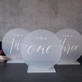 Table Number Round Frosted