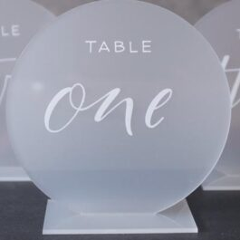 Table Number Round Frosted1