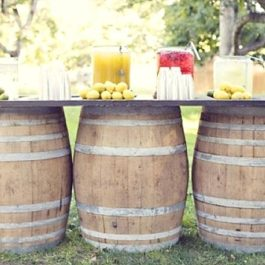 Lots Of Wine Barrel Wedding Ideas Furniture Bar Table Decor