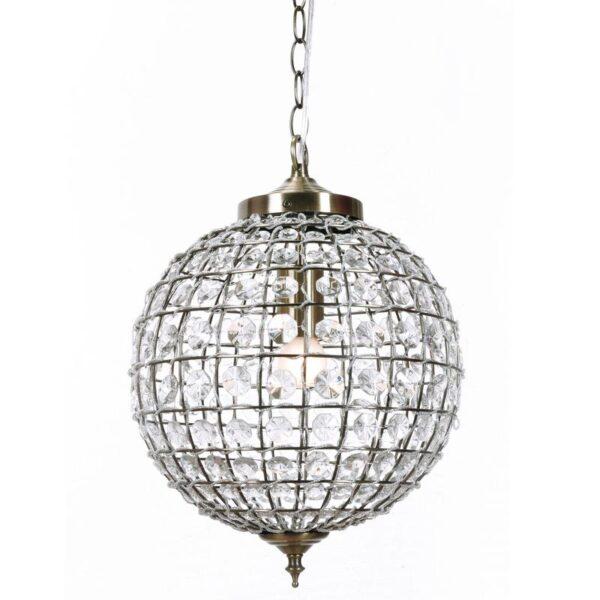Crystal Ball Chandelier Antique Bronze 30cm 800x