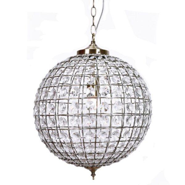 Casablanca Crystal Ball Chandelier Antique Bronze 40cm 800x