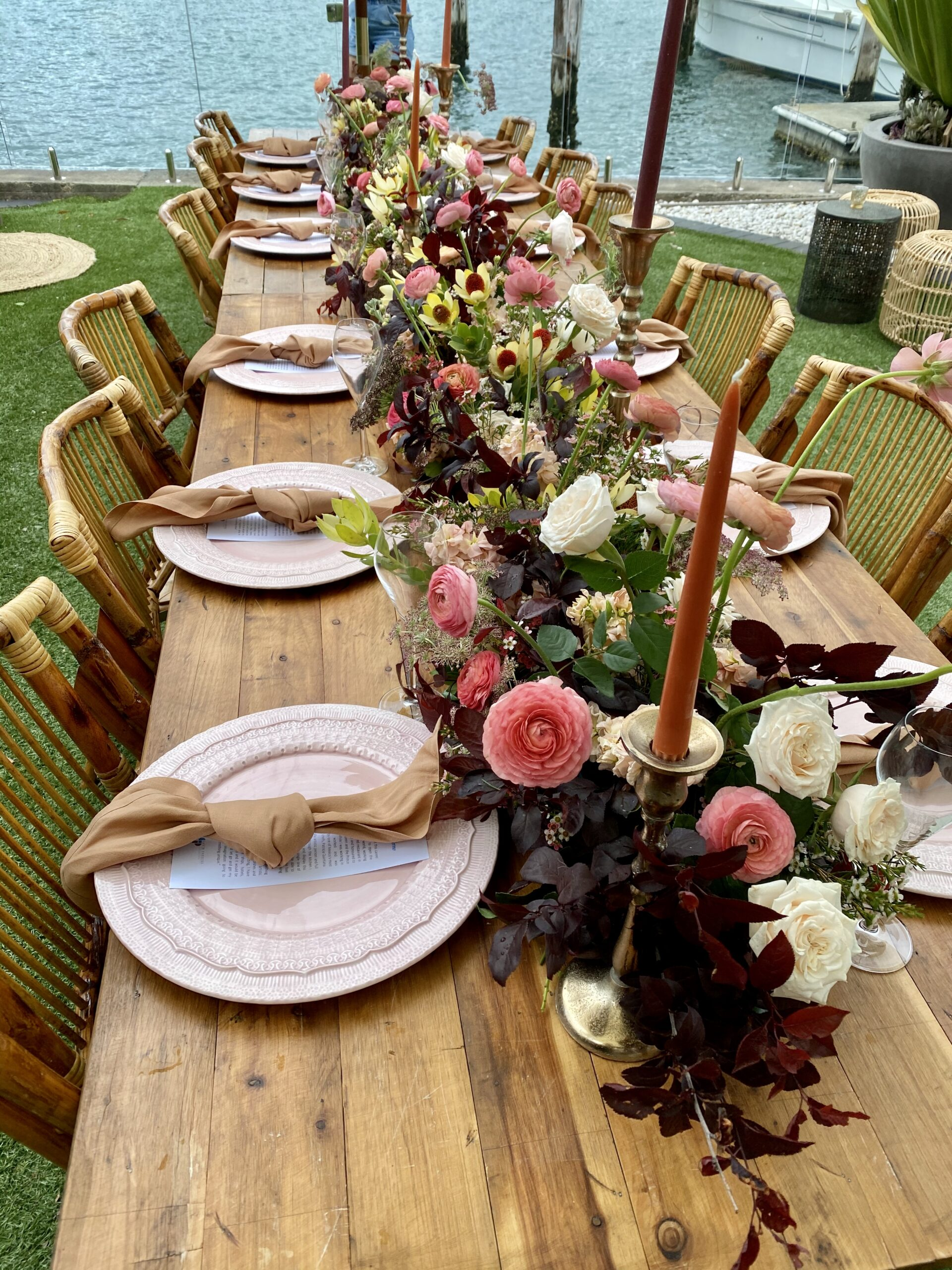 wedding events - table arrangements | Tumbleweed Events