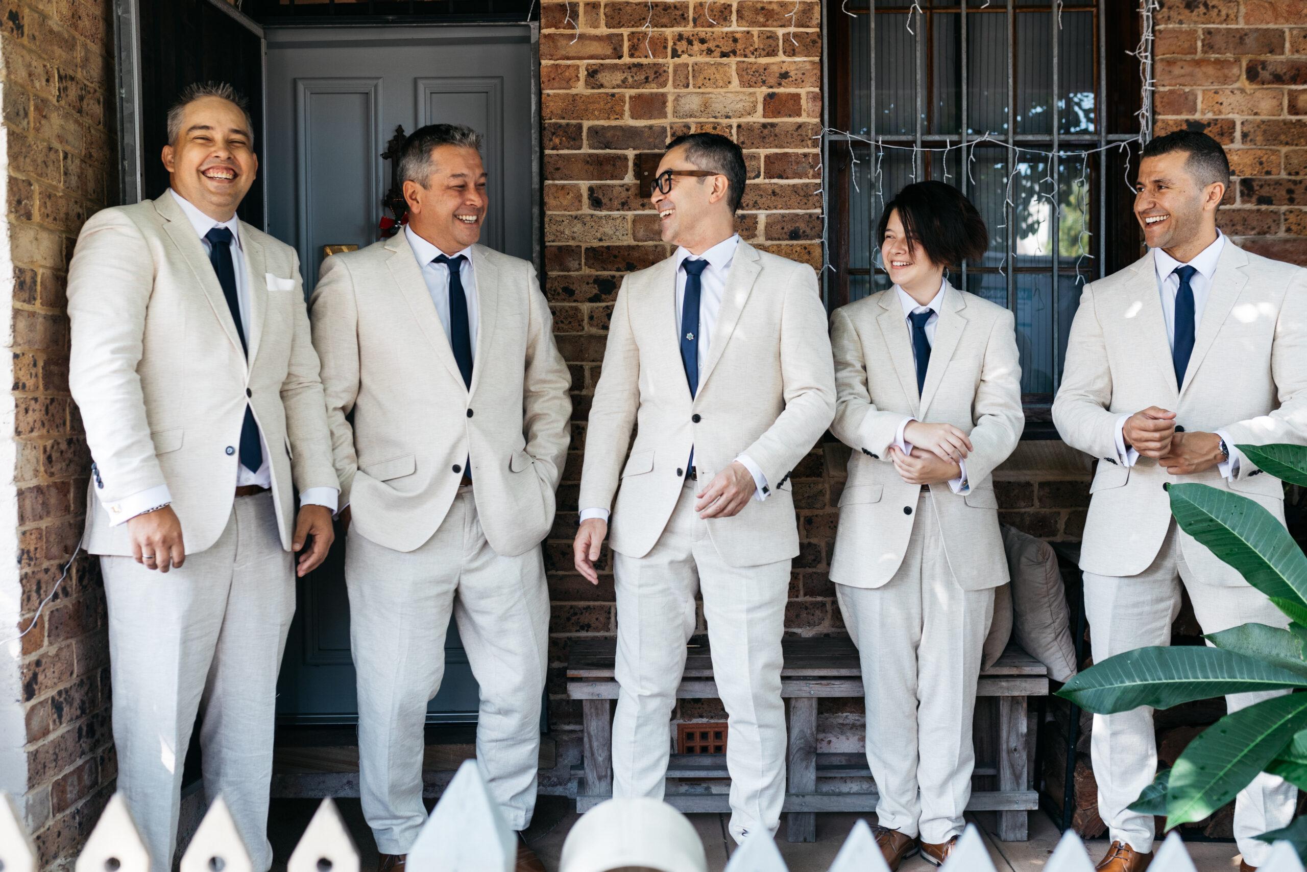 happy groomsmen | wedding | Tumbleweed Events