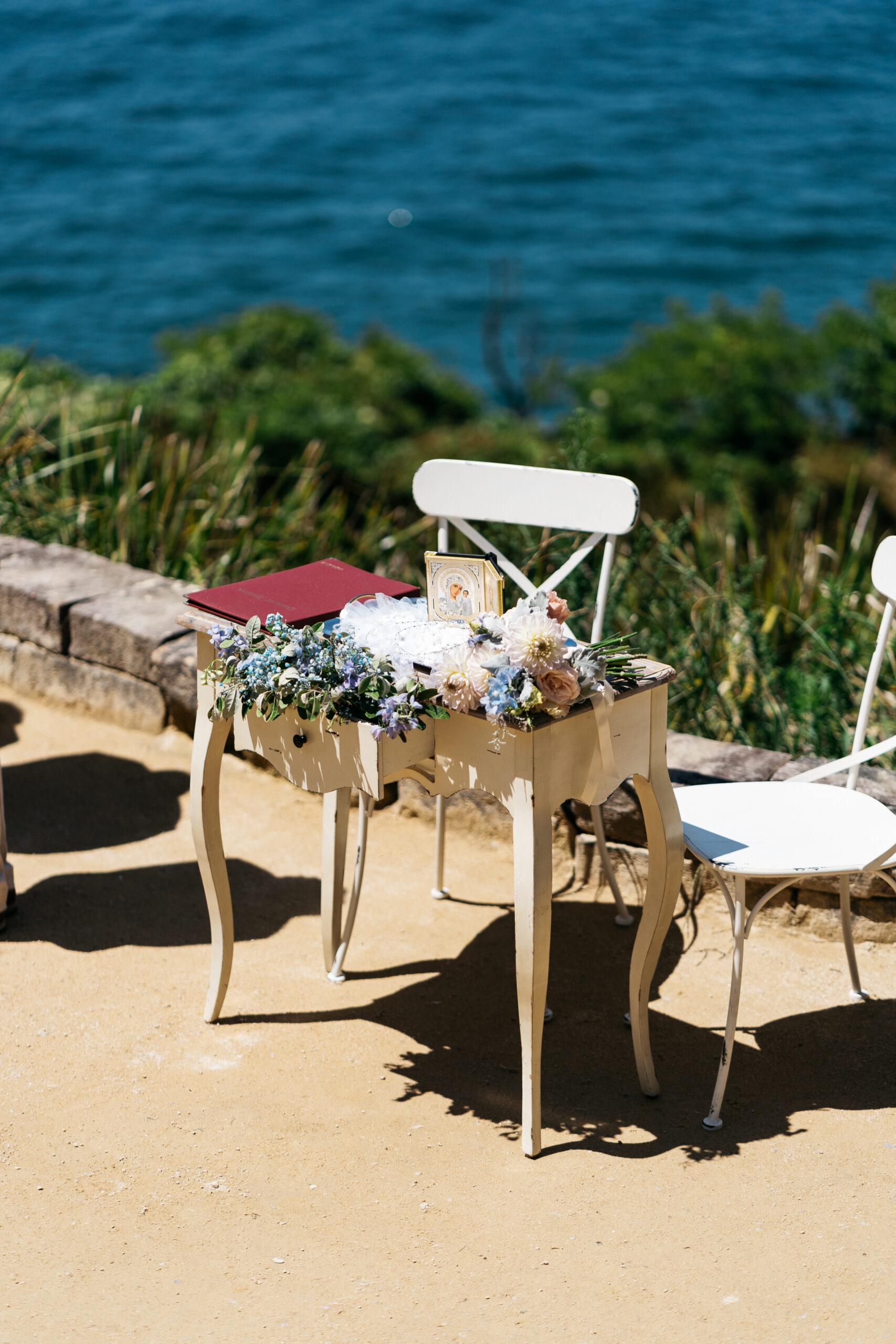 outdoor wedding table setup | Tumbleweed Events