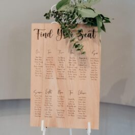 Table Seating Chart Wood