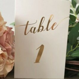Table Number Gold
